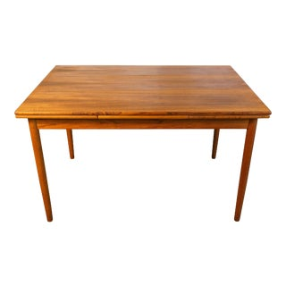 "Danish Mid Century Modern Teak Dining Table - ""Ulla"""