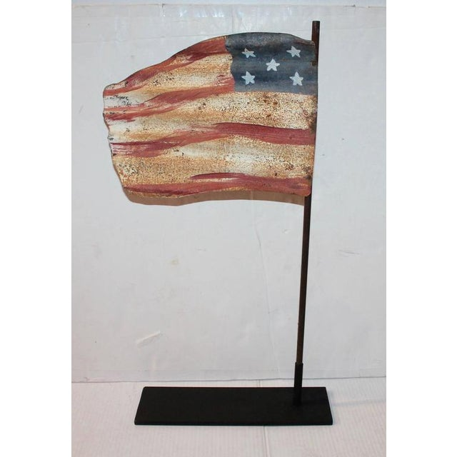 Image of Original Painted Flag from a Weather Vane Fragment
