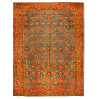 Antique Oversize 19th Century Turkish Oushak Carpet