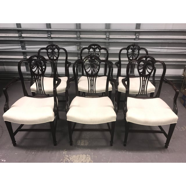 Carved Mahogany Dining Chairs - Set of 6 - Image 2 of 5