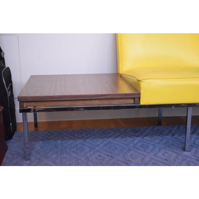 Modern Two-Tone Loveseat & Attached End Table - Image 4 of 7