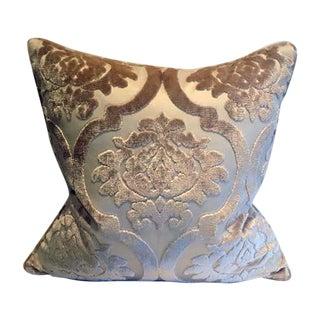 Silk Damask Velvet Pillows - A Pair