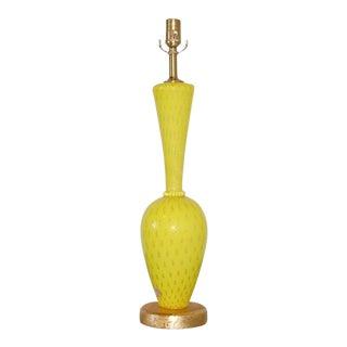Canary Yellow Murano Glass Lamp