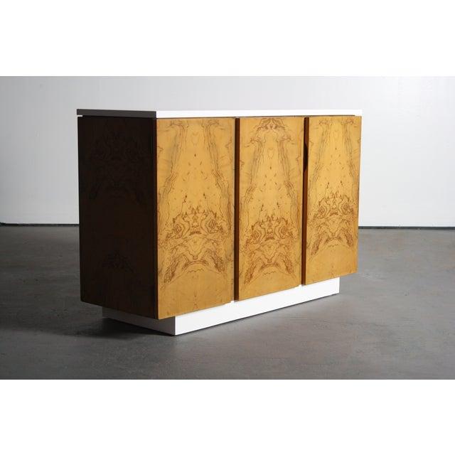 Milo Baughman Burl Wood 2-Tone Credenza Buffet - Image 2 of 11
