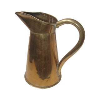 Old English Brass Pub Pitcher