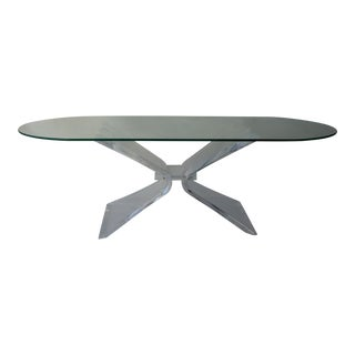 Vintage Lucite Butterfly Coffee Table