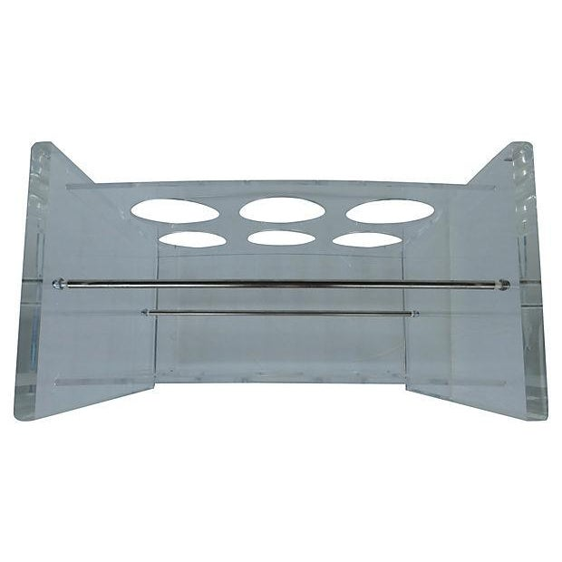 Lucite Wine Rack with Metal Crossbars - Image 3 of 5