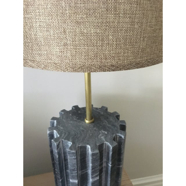 Black Marble Modern Table Lamps - a Pair - Image 4 of 7