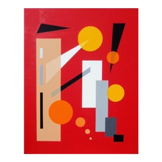 """""""Composition in Red"""" Painting"""