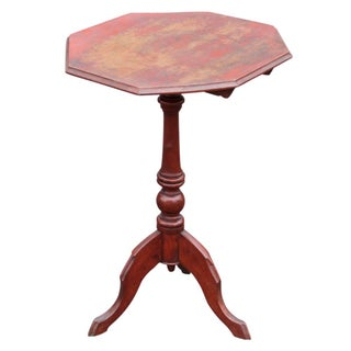 Antique Octogonal Tripod Tilt Top Table