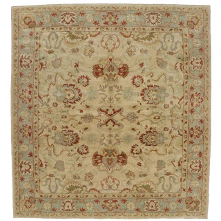 "Modern Turkish Oushak Square Rug - 11'8"" x 12'6"""