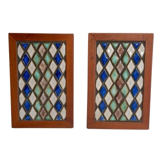 Marshall Studios Tiled Bookends - a Pair