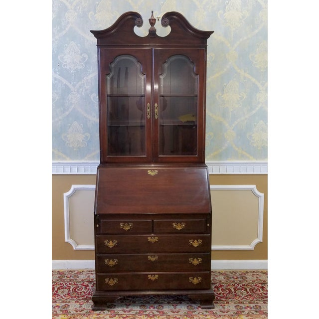 Ethan Allen Cherry Georgian Court Secretary Desk - Image 2 of 8