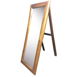 Wood Framed Floor Mirror