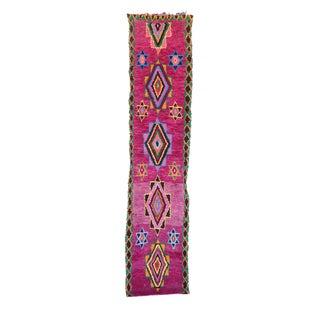 "Vintage Boujaad Moroccan Berber Rug - 2'5"" x 7'4"""