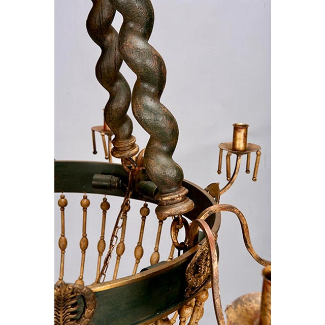 Image of 19th Century Custom Eight Arm Chandelier With Italian Crown