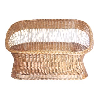 Natural Wicker Rattan Sofa Settee