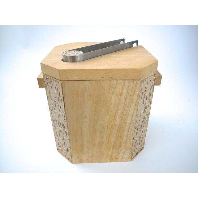 Image of Georges Briard Wood & Cork Ice Bucket