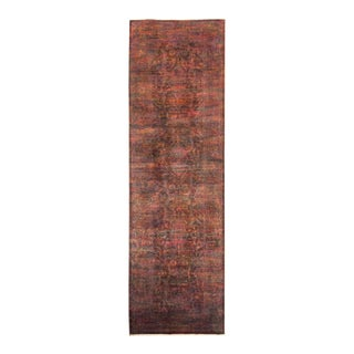 """Vibrance Hand Knotted Runner Rug - 3' 2"""" X 10' 8"""""""