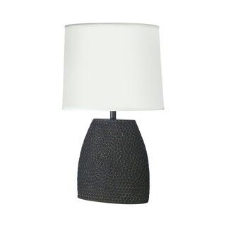 Jonathan Charles Dimpled Lamp in Dark Gray