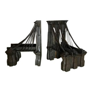 Cast Iron Brooklyn Bridge Bookends - a Pair