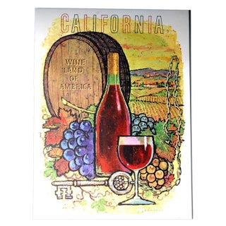 Vintage Wines of California Poster - Red