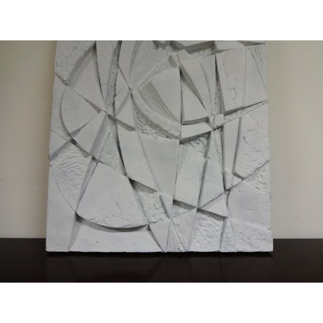 Mid-Century 3D Geometric Wall Hanging Sculpture - Image 4 of 10