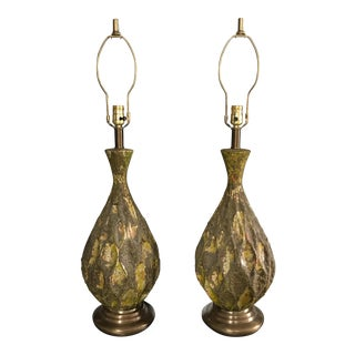 Mid-Century Pottery Lamps - A Pair