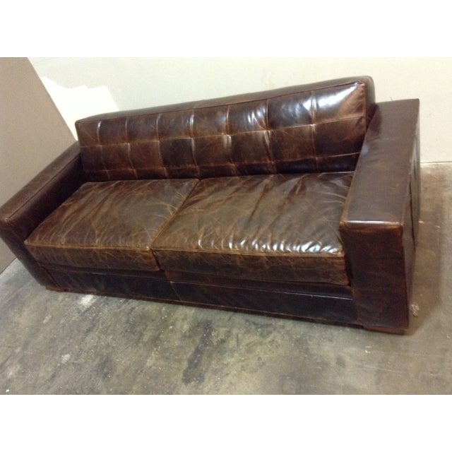 Image of Mitchell Gold Gabriel II Leather Sofa