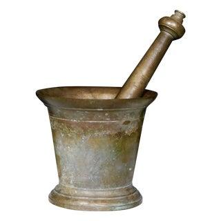 Antique Bronze Mortar and Pestle