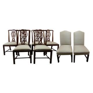 Chippendale Style Mahagoney Dining Chairs - Set of 8