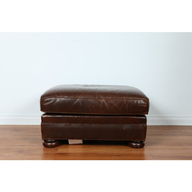 Brown Leather Chair With Ottoman - Image 11 of 11