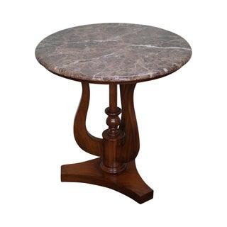 Drexel Heritage Marble Top Side Table