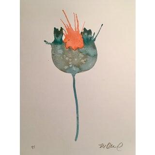 'Lava Burst' Watercolor Painting