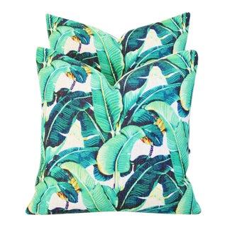 Dorothy Draper-Style Banana Leaf Pillows - a Pair