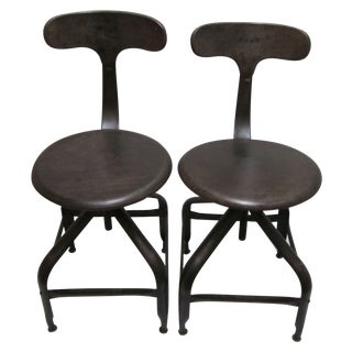 Vintage Industrial Nicolle Chairs - A Pair