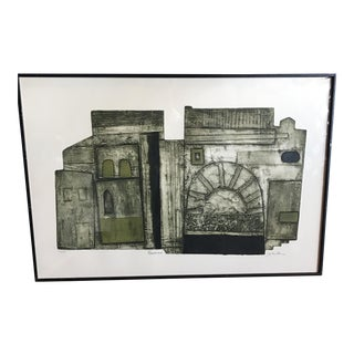 John Ross Architectural Collagraph
