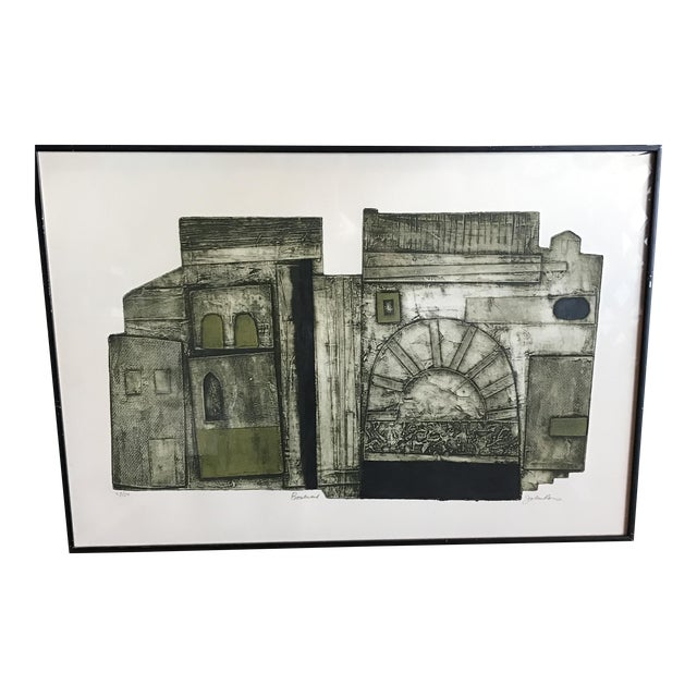 Image of John Ross Architectural Collagraph