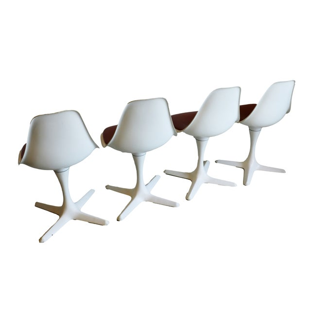 Mid-Century Modern Burke Tulip Chairs - Set of 4 - Image 6 of 9
