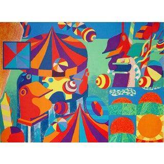 Bent Karl Jacobsen Vintage Abstract Circus Print