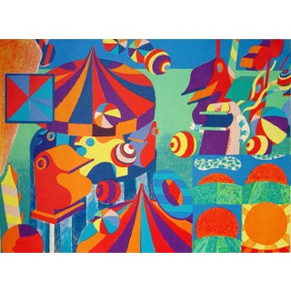 Bent Karl Jacobsen Vintage Abstract Circus Print