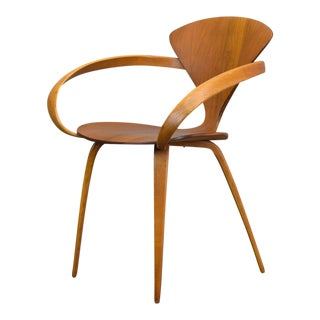 Authentic Norman Cherner for Plycraft Walnut Armchair 1960s