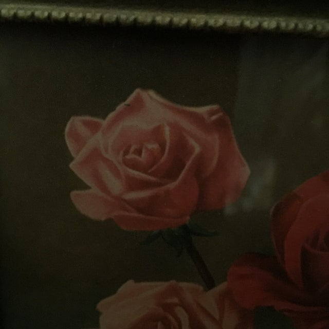 """Roses With Greenery"" Painting - Image 3 of 5"