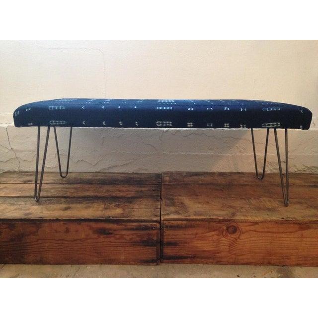 Image of Indigo Mudcloth Bench