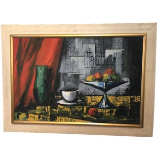 Fruit Still Life with Cup & Green Vase
