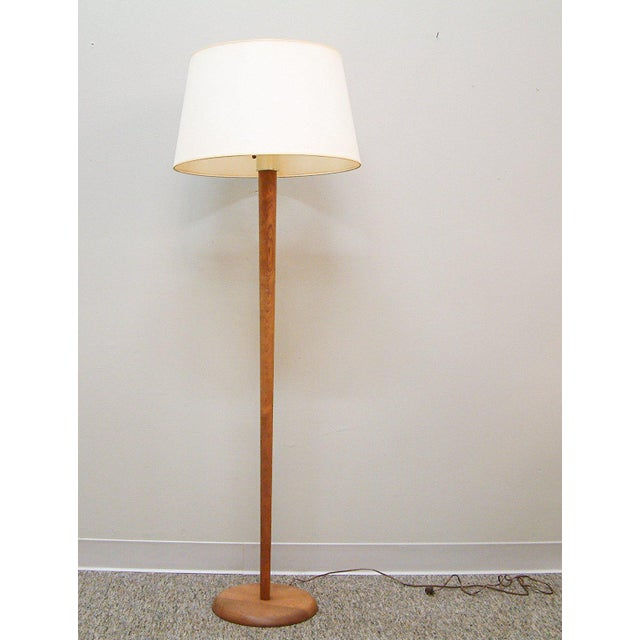 Walnut Floor Lamp Attributed to Vladimir Kagan - Image 2 of 7