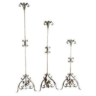 Iron & Tole Pricket Set - Set of 3