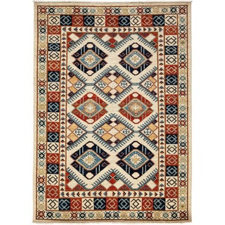 """Traditional Hand-Knotted Rug - 6' x 8'4"""""""