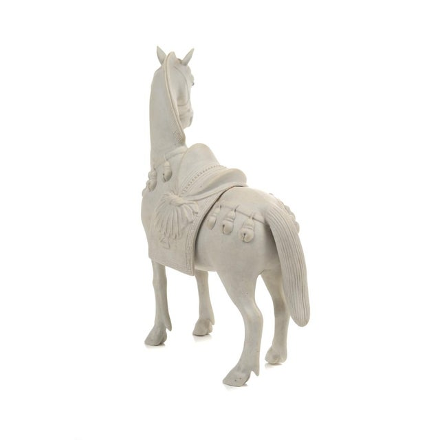 Rare Chinese Bisque Porcelain Horse Figurines - 2 - Image 8 of 9