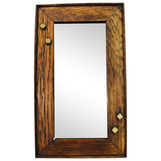 Oak Framed Mirror With Dice